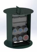 Borne escamotable pour distribution énergie - Borne verrouillable en acier métallisé thermolaqué