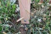 Borne numéro en bois - 3 Hauteurs (mm) : 650 - 900 - 1400