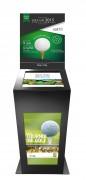 Borne tactile golf double affichage