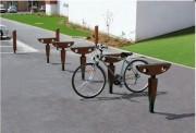 Borne vélo stratifié - Encombrement (mm) : 650 x 100