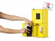 Bornes de recharge téléphone portables de 2 casiers à codes - Bornes de recharge pour téléphones portables de 2 casiers à codes