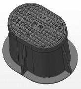 Bouche ovale C250 - Classe C 250 - Dimension extérieure (mm) : 470 x 370