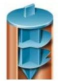 Bouchon à languette en Polyéthylène basse densité Bleu - SR 1069
