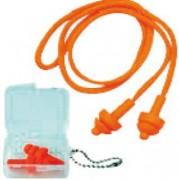 Bouchons anti bruit avec cordelettes - Bouchon conforme à la norme EN352-2