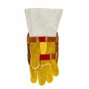 Bouclier de protection de main aluminisé avec dos en cuir Weldas - Dos en cuir Weldas