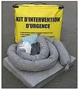 Boudin absorbant pour hydrocarbure en liège - Capacité d'absorption : 378 ou 420 litres/sac