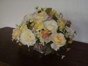 Bouquet rond - Rose crème