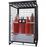 Box à porte battante pour bouteilles de gaz - Box extérieur pour le stockage sécurisé de bouteilles de gaz