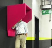 Box acoustique mural - Dimensions (L x P x H) : 75 x 71 x 107 cm