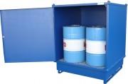 Box armoire stockage fûts - Stockage de 2 ou 4 fûts ou conteneur de 1000 litres