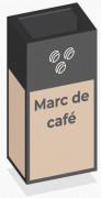 Box de recyclage marc de café - Contenance : 20 kilos de marc de café