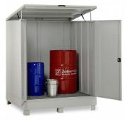 Box de rétention an acier pour fûts - Capacité : 320 ou 400 Litres