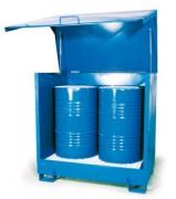 Box de stockage 2 fûts 220 L - Vol.de rétention : 220 litres
