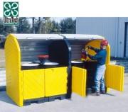 Box de stockage 4 fûts PEHD - Volume de rétention : 284 litres