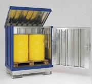Box de stockage acier pour fûts - Capacité de charge : 500 Kg