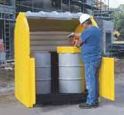 Box de stockage en pehd pour 2 fûts - Volume de rétention : 250 Litres
