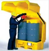 Box de stockage en pehd pour fût - Charge admissible : 1361 kg