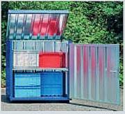 Box de stockage extérieur de produits dangereux - Charge admissible d'une étagère : 120 kg UR