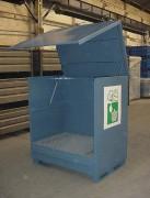 Box de stockage fût avec rétention - Capacité de rétention 240 ou 440 litres