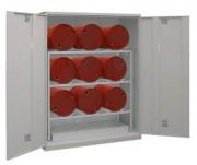 Box de stockage fûts à ventilation - Pour fûts 60 et 200 L