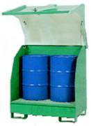 Box de stockage pour 2 fûts - Pour 2 fûts de 200 L
