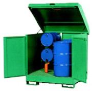 Box de stockage pour 4 fûts de 200 L - Pour 4 fûts de 200 L