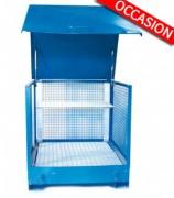 Box de stockage pour fûts occasion - Vol. de rétention : 440 L