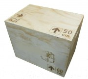 Box jump en bois - Hauteur : 50cm - Longueur : 75cm - Largeur : 60cm