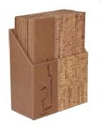 Box protège carte des vins pour bar - Format : A4 - 10 menus carte à vins de format A4- Dimensions : 35,2x27x14,6cm