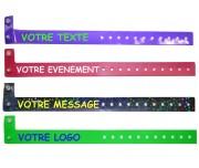 Bracelet vinyle personnalisé - Longueur (mm) : 250 - 260