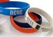 Bracelets d'Identification en silicone - Bracelet silicone classique - Dim : 180x12x2 ou 200x12x2 mm