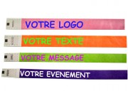 Bracelets d'identification tyvek expression - Largeur 19 x 250 mm et 25 x 250 mm