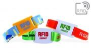 Bracelets RFID avec glissière à puce en PVC - Plusieurs types de puce RFID disponibles