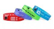 Bracelets vinyle translucide - Fermeture en plastique inviolable