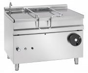 Braisière basculante à gaz - Contenance : 120 litres - Cuve en acier inox avec fond en acier