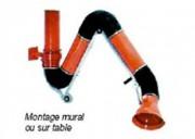 Bras d'aspiration Montage mural ou sur table - Montage mural ou sur table