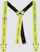 Bretelles à tresses pour boutons - Elastique jaune 35 mm