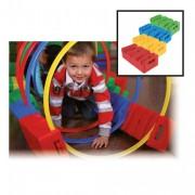 Brique multi jeux en plastique - Dimensions : long. 24 x larg. 12 x haut. 6cm