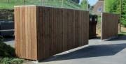 Brise vue cache poubelle bois - Palissades lames bois pin douglas étuvées
