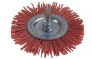 Brosse circulaire en nylon - Diamètres disponibles  : de 75 à 150 mm