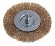 Brosse circulaire plate - Diamètres disponibles  : 40 - 50 - 75 - 100 mm