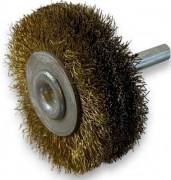 Brosse circulaire sur tige 3 rangs Laiton - Diamètres corps : de 50 à 125 mm