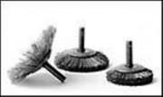Brosse évasée acier 0,3 mm montée sur axe - Série BMF 44,5 mm