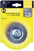 Brosse laiton tendre - Diamètre (mm) : de 50 à 100