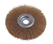Brosse métallique circulaire pour nettoyage - Diamètres disponibles (mm) : 100 - 120