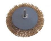 Brosse métallique rotative - Diamètre (mm) : 90