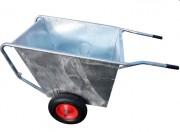 Brouette 300 L - À aliments - Galvanisée - 2 roues