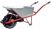 Brouette électrique PRO avec bac acier 100 litres - Charge maximum 150 kg - Puissance moteur 300 W - avec Frein électrique