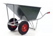 Brouette professionnelle 2 roues - Capacité : Liquide 160 L - Sable 230 L