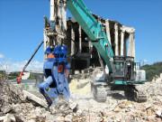 Broyeur béton fixe pelle 5 à 90 tonnes - Broyage de béton et séparation de ferraille